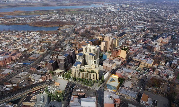 Rendering of Downtown Far Rockaway via Marvel Architects