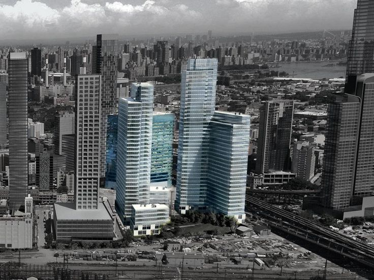 Rendering of Speyer's three-tower residential project