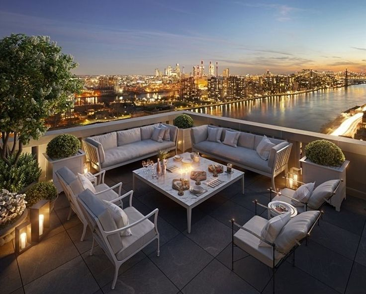 Terrace and river views via The Corcoran Group