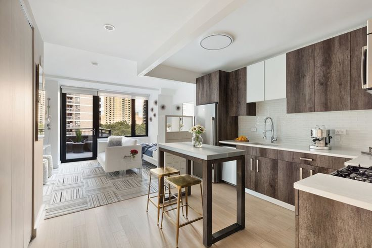 Model residence at the 23-story rental tower in the Financial District, via Heller Organization