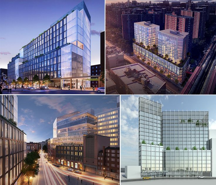 Various projects just west of Columbia University Manhattanville Campus