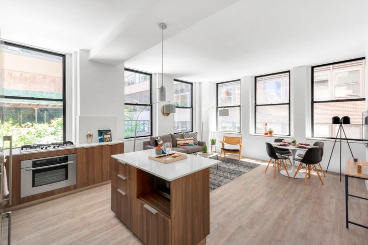 Apartments have flexible layouts with up to three bedrooms. (Image via Town Residential)