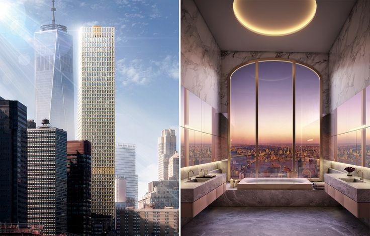 Early conceptual studies of Wall Street Tower by David Adjaye