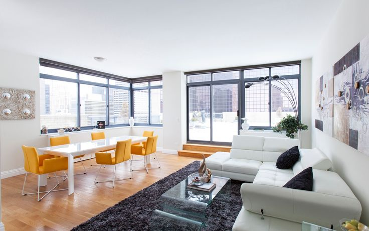 A renovated model unit at The Ritz Plaza on West 48th Street (Image via Stonehenge NYC)