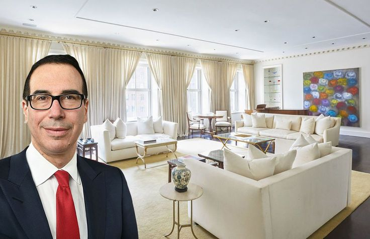 (Steven Mnuchin via Wiki Commons; 740 Park Avenue via Warburg Realty)