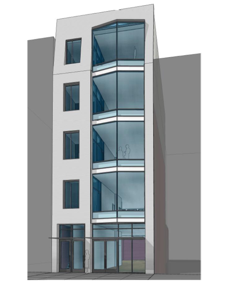 Rendering of 216 Bowery via L3 Capital