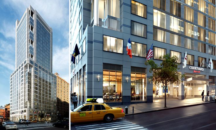Rendering of the Courtyard Marriott Hotel coming to Tenth Avenue and West 34th Street