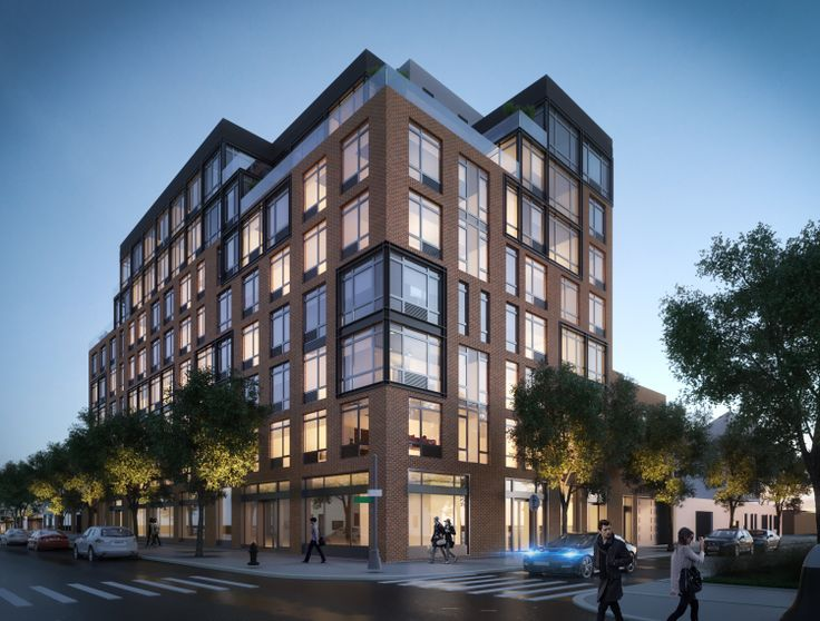 A new mixed-use rental building at 371 Humboldt Street in Williamsburg will debut this summer. (Image via A&D Engineering)