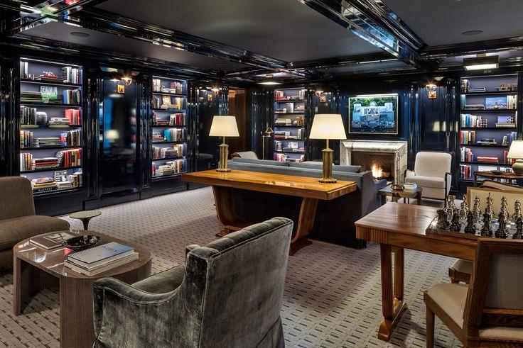 Library at 20 East End Avenue via Evan Joseph