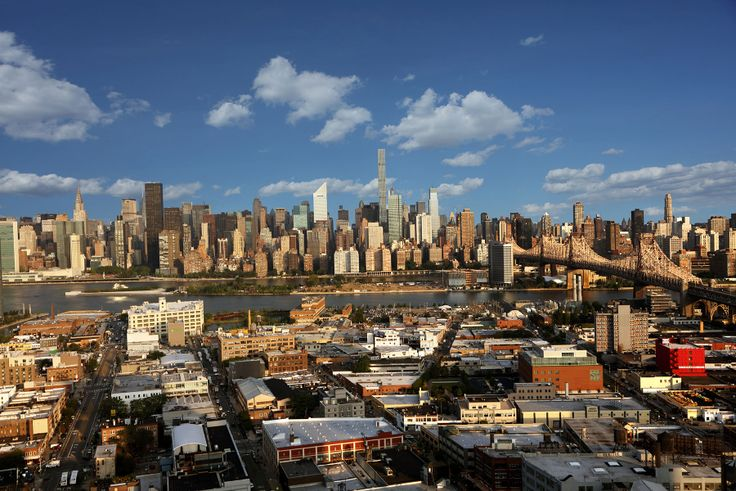 View from Hayden to the west towards the East River and Midtown Manhattan