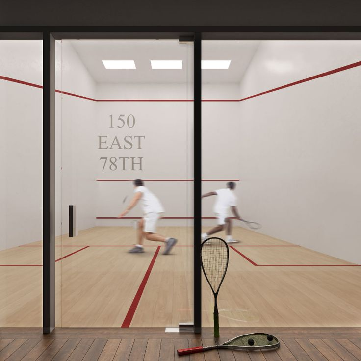 Planned squash court at 150 East 78th Street on the Upper East Side via Hayes Davidson/M18