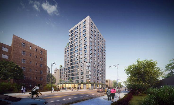 All renderings of Ingersoll Senior Residences via Marvel Architects