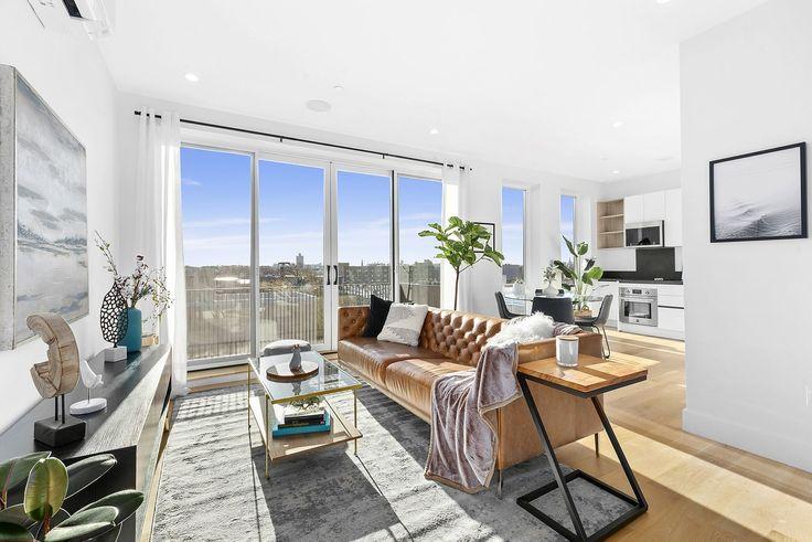 Model living room (Photos via Corcoran Group)