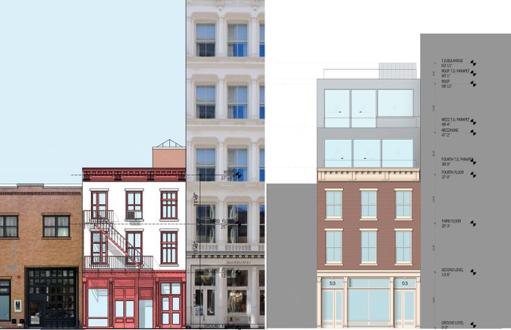 All images and drawings credit of DXA Studio via the submitted presentation for 53 Mercer Street