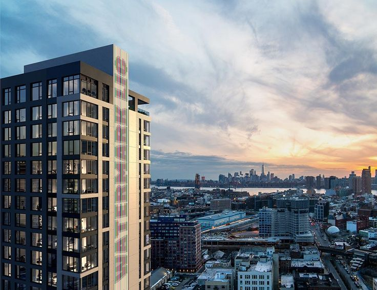 Rendering of Watermark LIC looking south over the East River to Manhattan (Twinning Properties)
