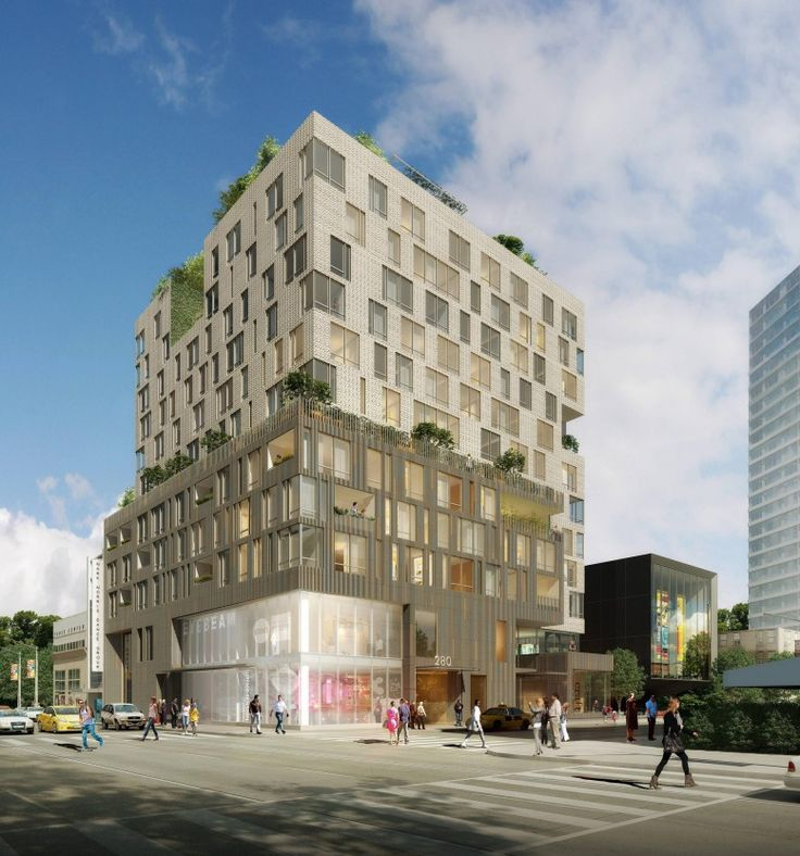 Caesura at 280 Ashland Place in the Brooklyn Cultural District (Image via Dattner Architects)