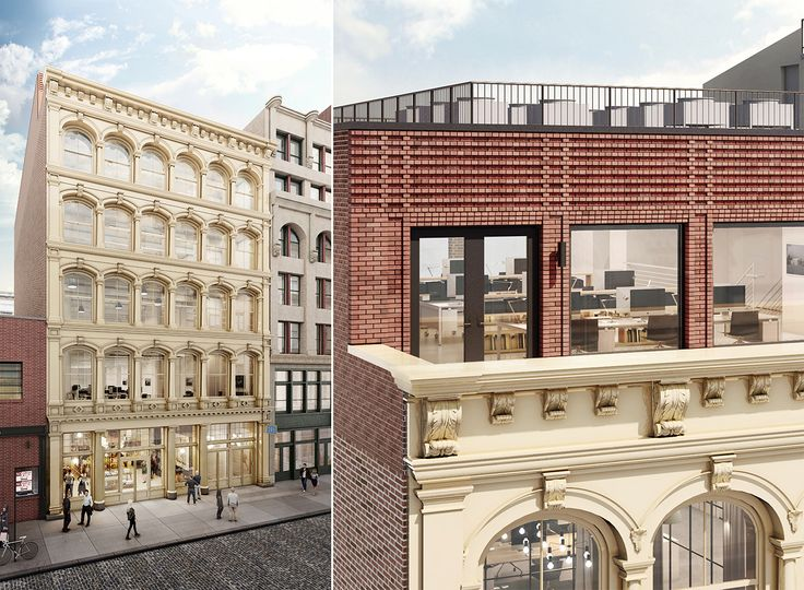 Rendering of new penthouse at 165 Mercer Street via Flank