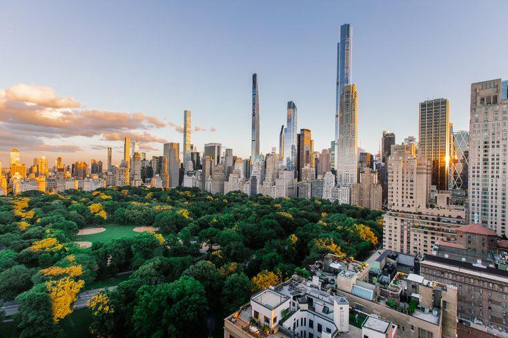 Shot of some of the prestigous apartment towers along Central Park South (Compass)