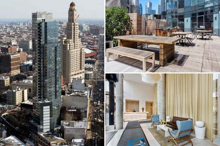 Rental tower 66 Rockwell Place in Downtown Brooklyn (Images via 66rockwell.com)