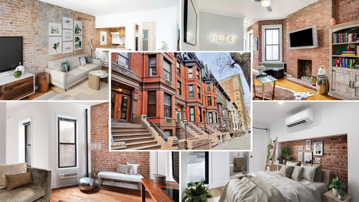 Available sales listings in NYC featuring exposed brick walls