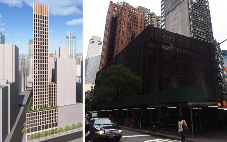 Rendering of new SOM building on left by Windtech Consultants, current demolition on right