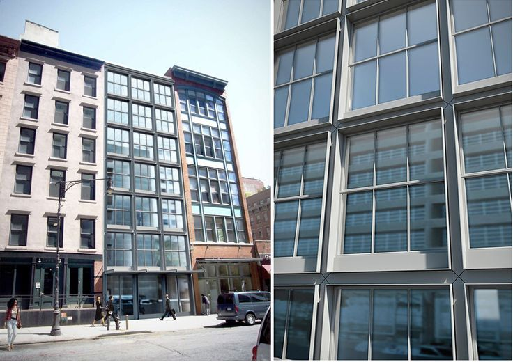 The robust exterior of 403 Greenwich Street