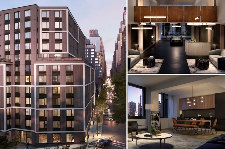 The Lewis at 411 West 35th Street in Midtown West (Images via thelewisrentals.com)