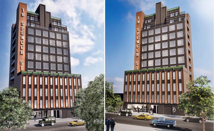 New renderings of 18 Spencer Street via Input Creative Studio