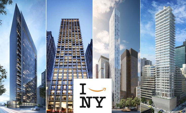 L to R: 685 First Avenue, The Bryant, 100 East 53rd, and 200 East 59th Street. Logo via NYCEDC