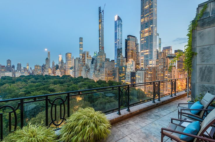View from 15 Central Park West via Brown Harris Stevens