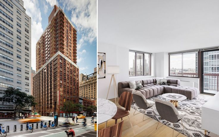 The Ellington at 260 West 52nd Street in Midtown West (All images via Rose Associates)