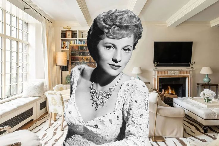 Joan Fontaine via Wiki Commons; all apartment images via Sotheby's International Realty