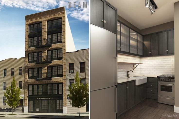 37 Montrose Avenue in Williamsburg, via Beam Group / Jacob Goldman Design