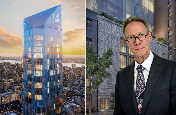 Bruce Eichner and his latest development, Madison Square Park Tower (Renderings by Williams New York)