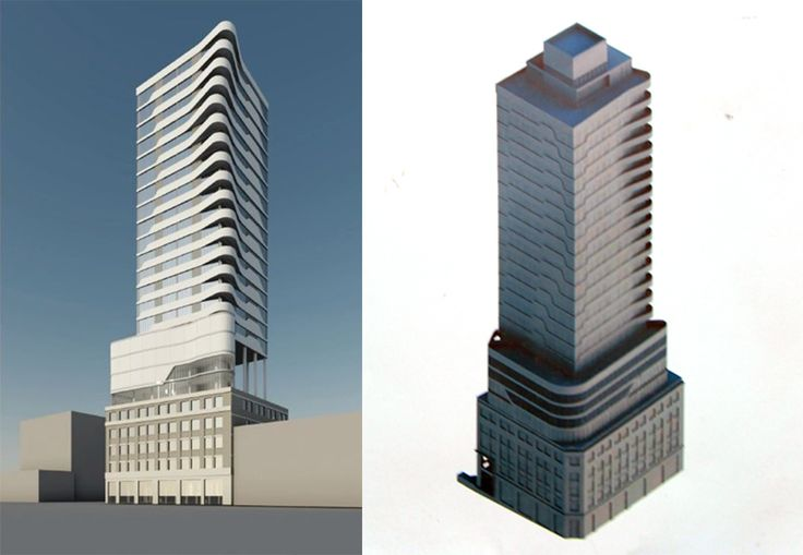 Renderings of 24-16 Queens Plaza South (42-02 Crescent Street); Greystone Development