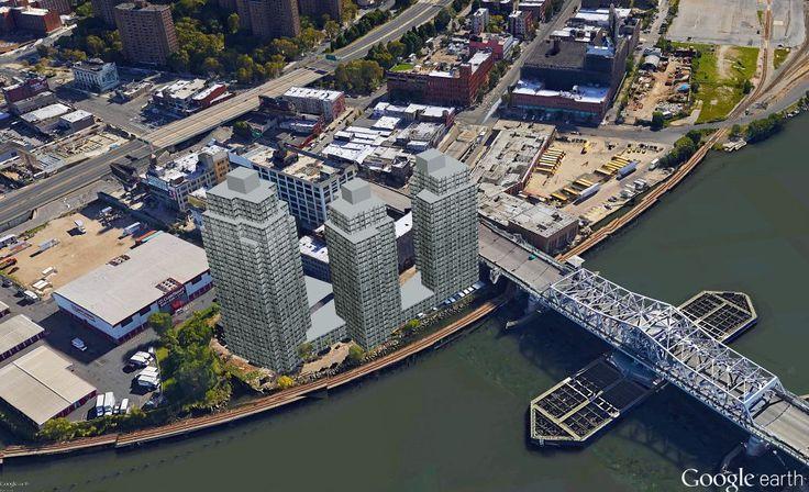 Google Earth aerial view (Renderings by CityRealty)