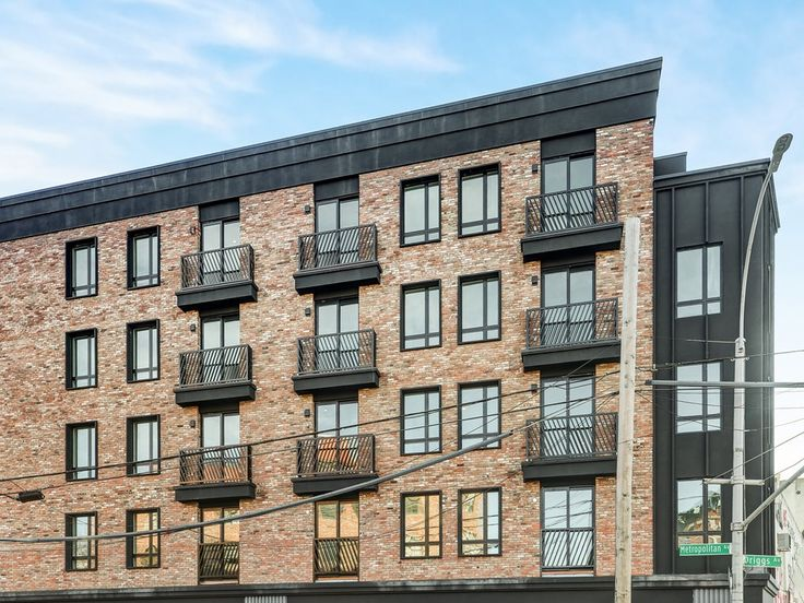 The exterior of newly built 268 Metropolitan Avenue in Williamsburg (All images via EXR Group)