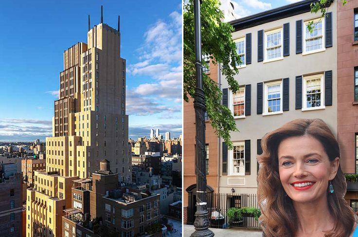 Walker Tower and 140 East 19th Street via Sotheby's; Paulina Porizkova and Ric Ocasek via Wiki Commons
