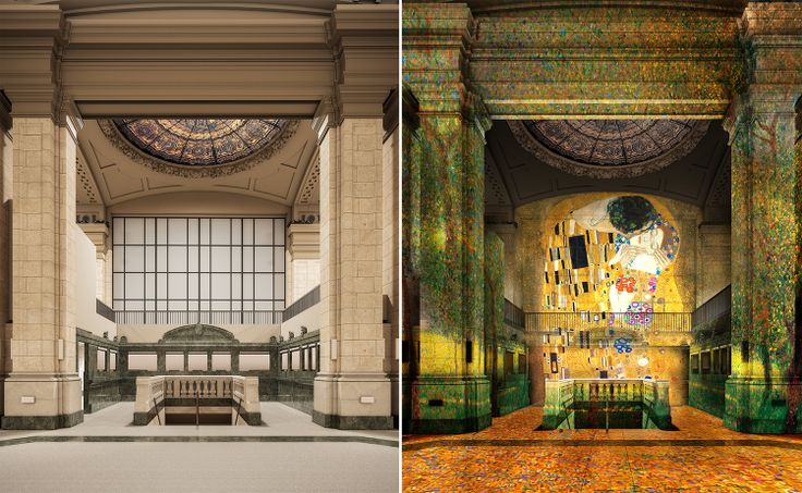 Renderings of Atelier des Lumieres at 49-51 Chambers Street via Woods Bagot for Landmarks Preservation Commission