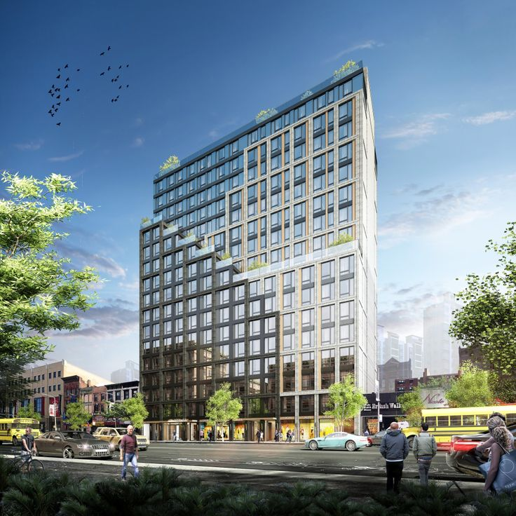 Rendering of 54-62 West 125th Street finishing construction in Harlem (J Frankl Architects)
