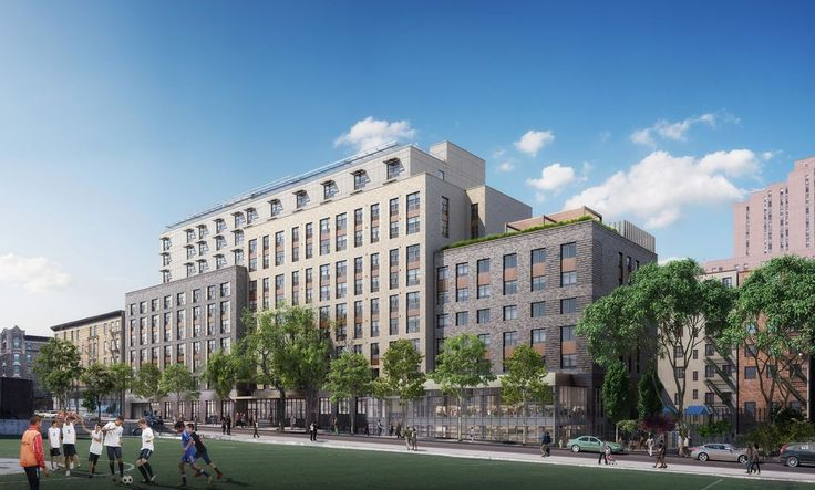 145-149 West 108th Street represents Phase I of the affordable housing development (Dattner Architects)