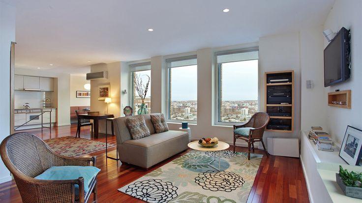 Living Room, 75 Livingston Street, Condo, Manhattan, NYC
