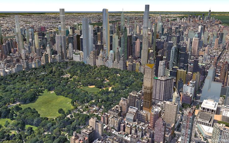 50 West 66th Street and Midtown's future skyline (CityRealty)