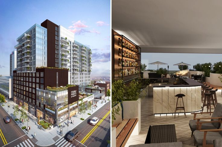 The Farrington at 134-37 35th Avenue in Flushing has 100 condominium residences. (All images via Modern Spaces)