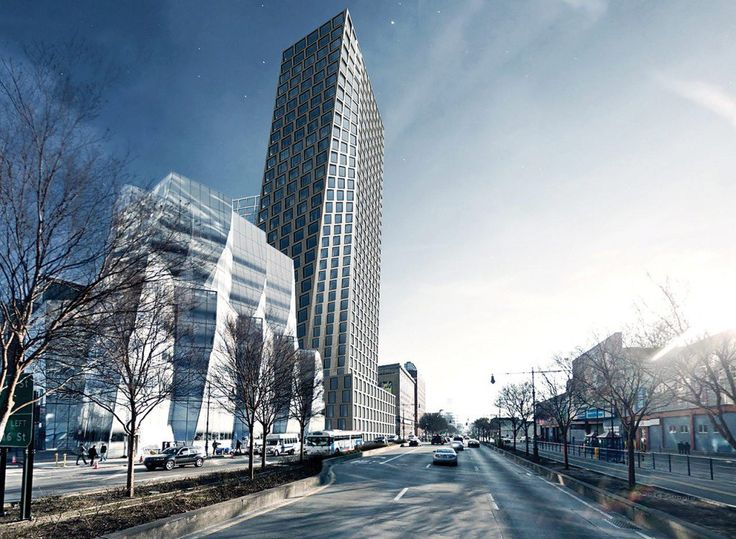 Rendering by Bjarke Ingels Group, Looking south down Eleventh Avenue