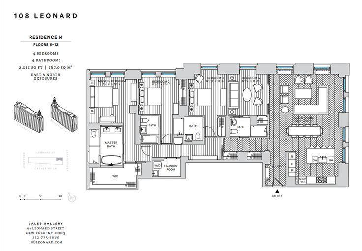 108 Leonard Street floor plan