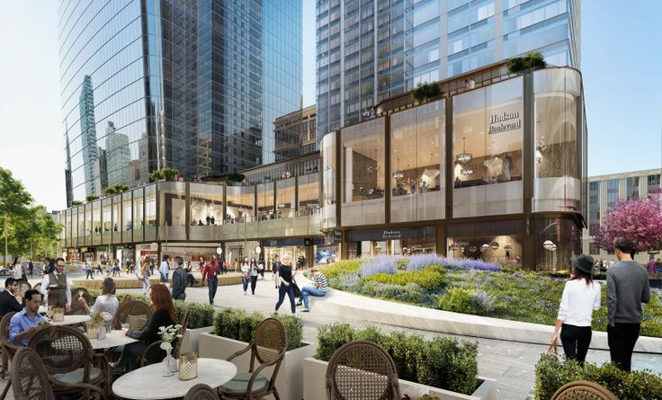 Manhattan West's public space looking south (Visualhouse)