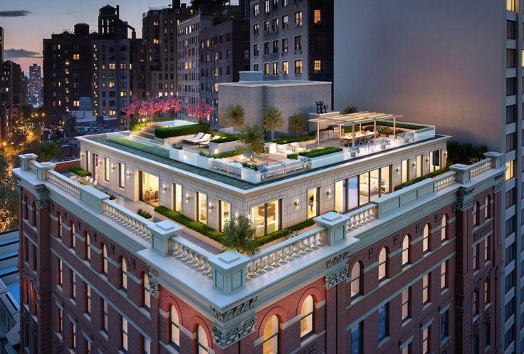 Bird's-eye view of penthouse via GTIS Partners