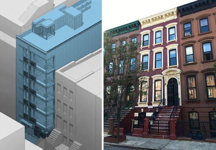 Left: 11 West 126th Street Rendering via The Bluestone Organization. Right: 16 East 126th Street photo via Meetup.com