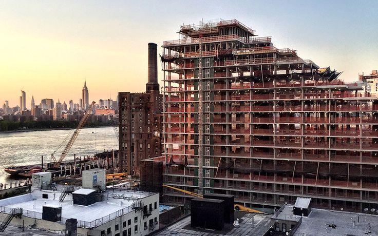 325 Kent Avenue recently topped out at 189 feet tall and 16 stories high.
